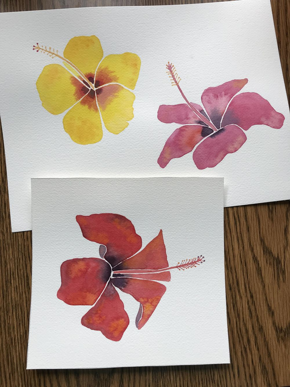 Modern Botanical Watercolor Paintings - image 5 - student project