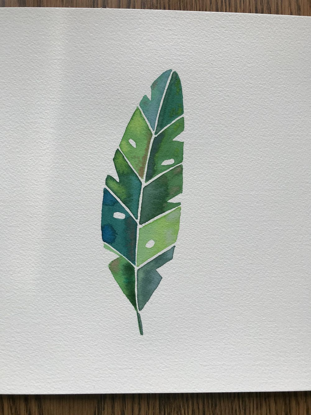 Modern Botanical Watercolor Paintings - image 2 - student project