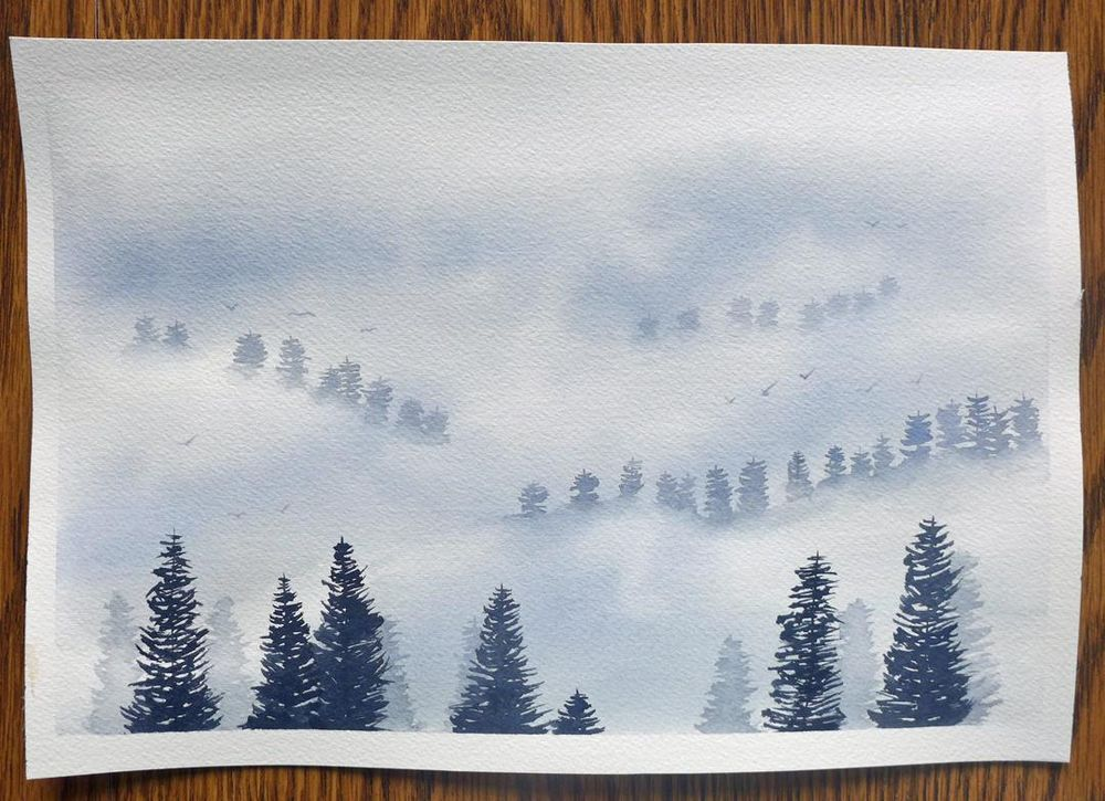 Painting Fog with Watercolors - image 1 - student project