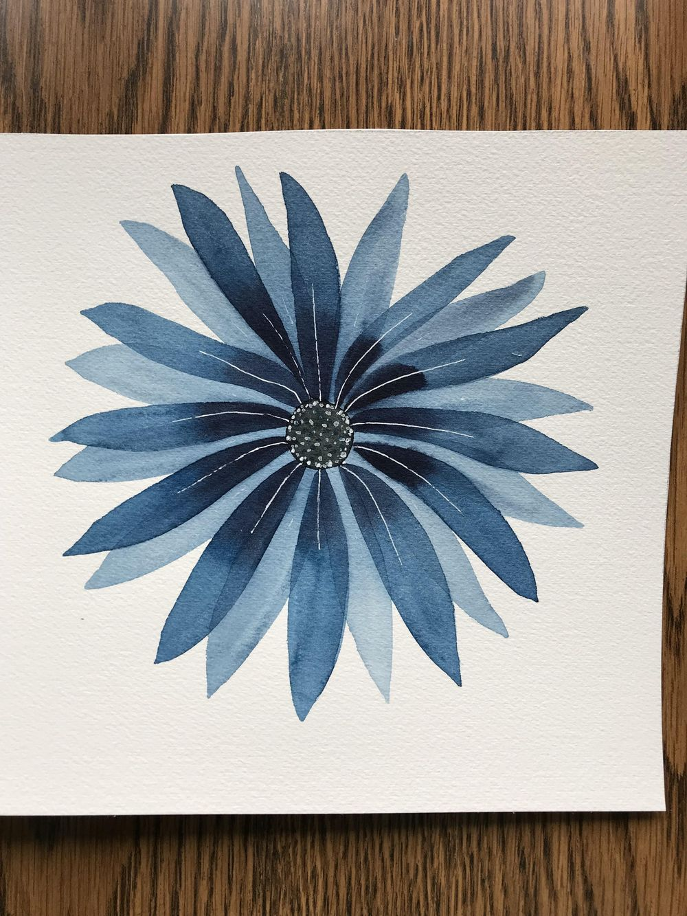 Modern Botanical Watercolor Paintings - image 4 - student project
