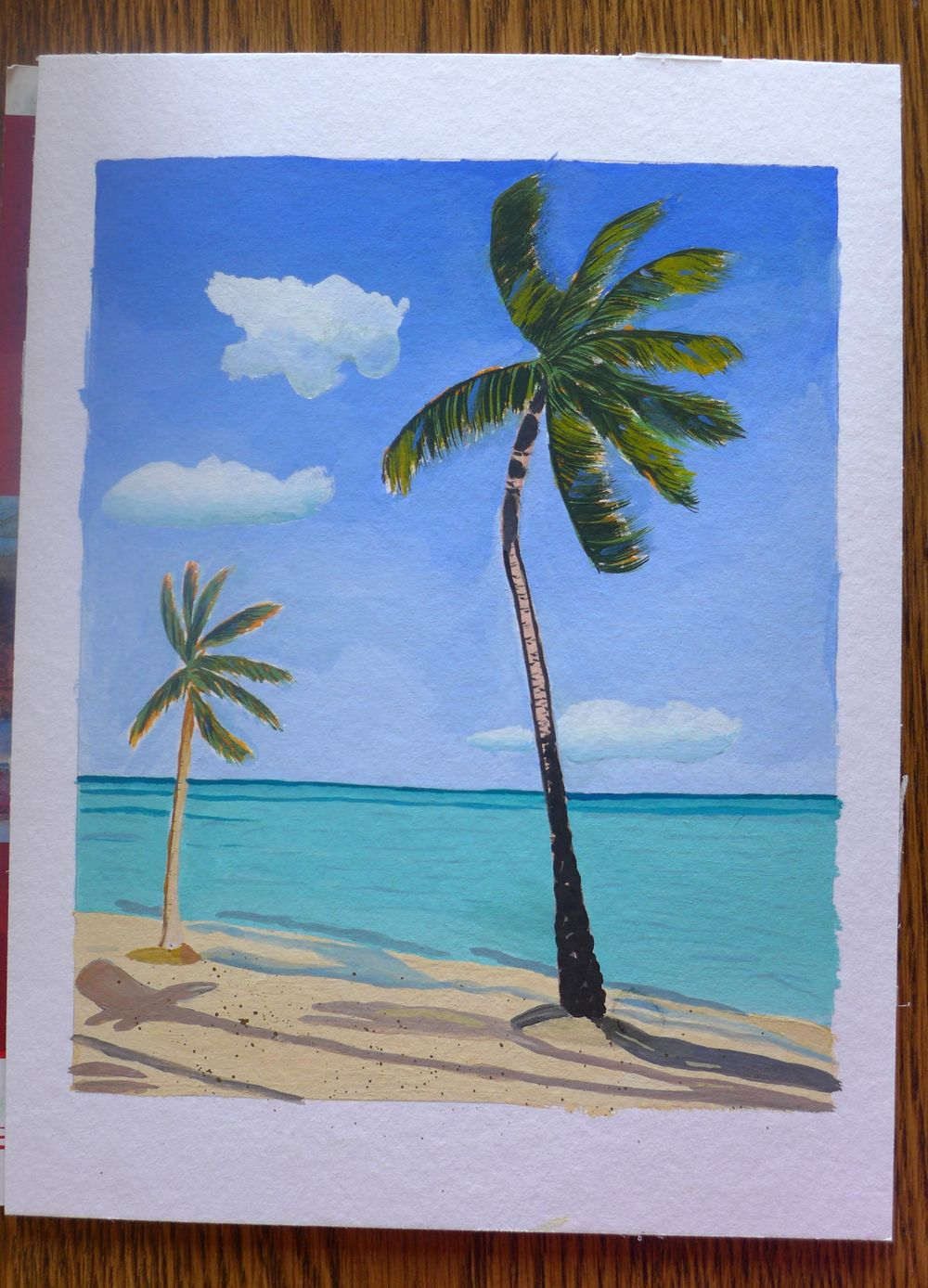 Palm Trees with Gouache - image 2 - student project