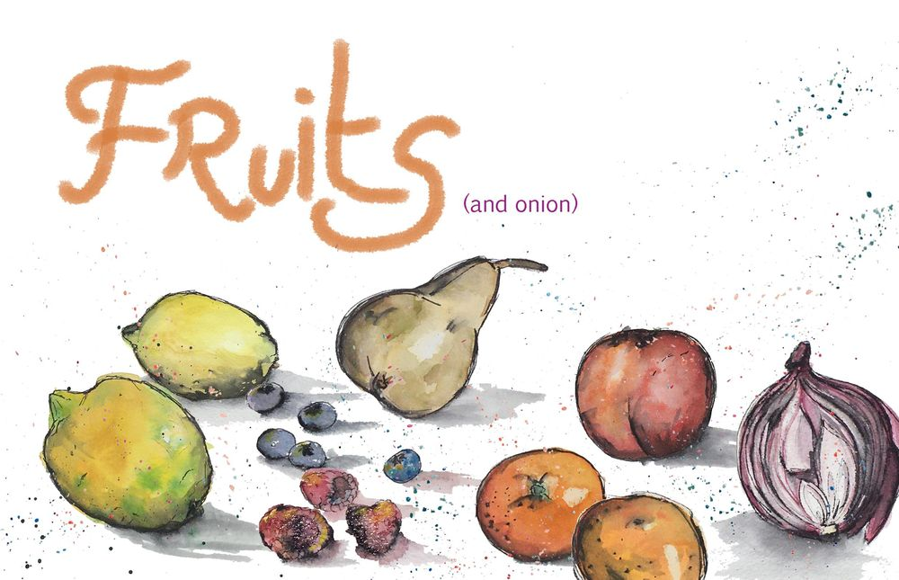 Fruits (and onion) - image 1 - student project