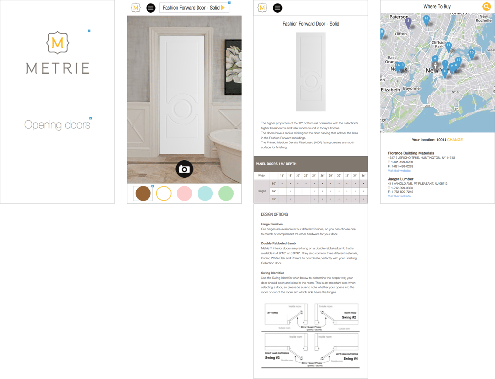 Metrie Door App - image 3 - student project