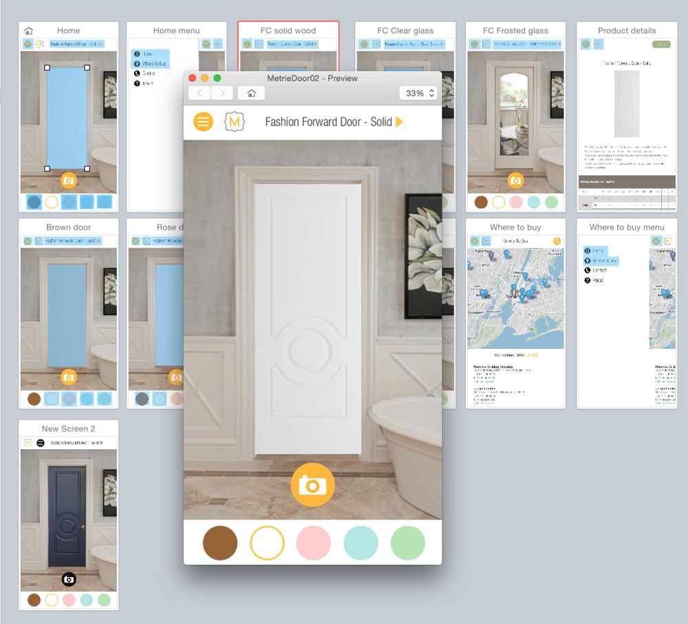 Metrie Door App - image 7 - student project