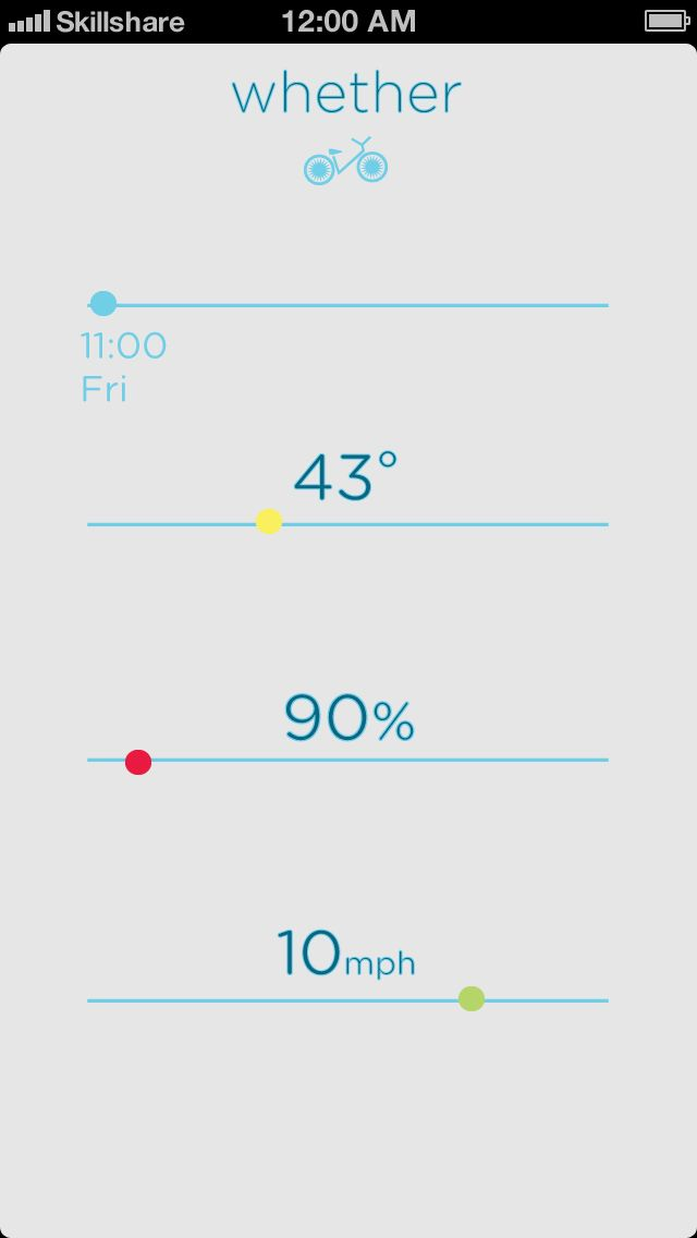 Whether weather app - image 1 - student project