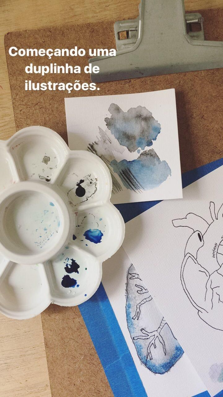 Watercolor book journal process.  - image 1 - student project