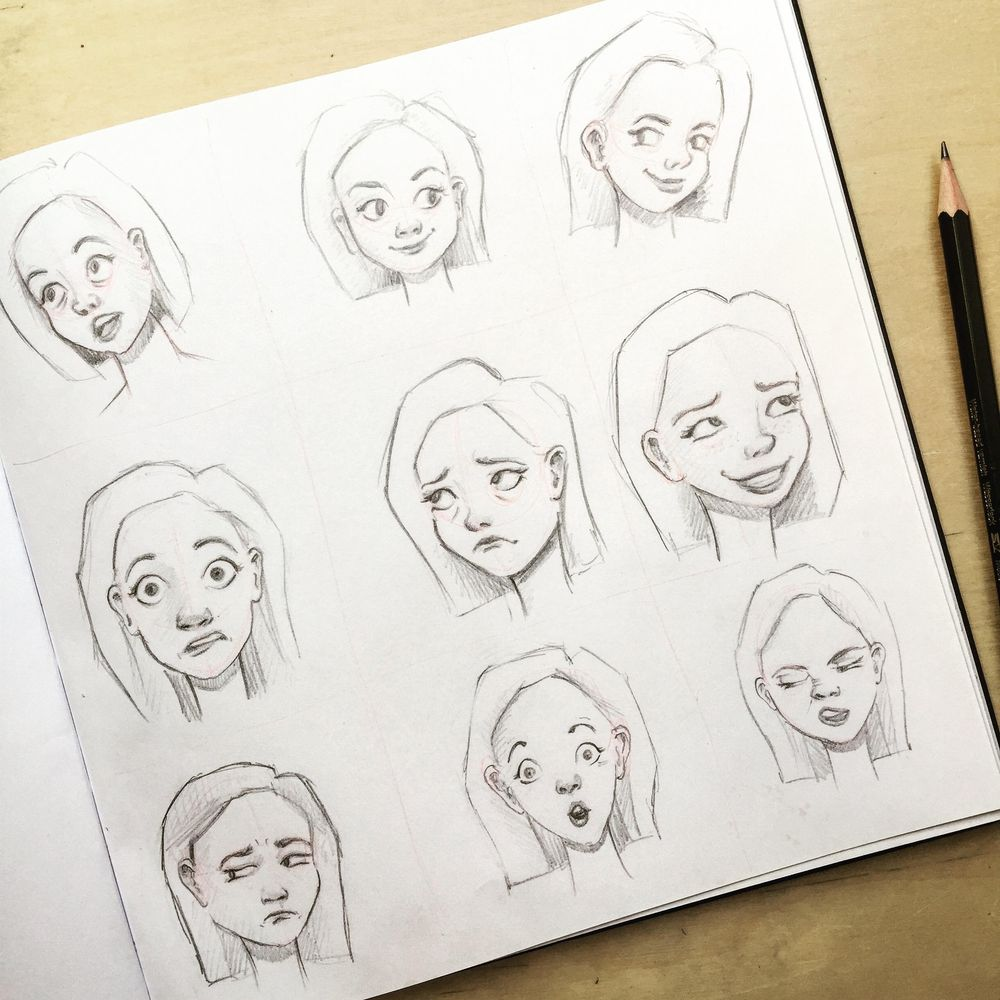 Practicing Facial Expressions - image 2 - student project