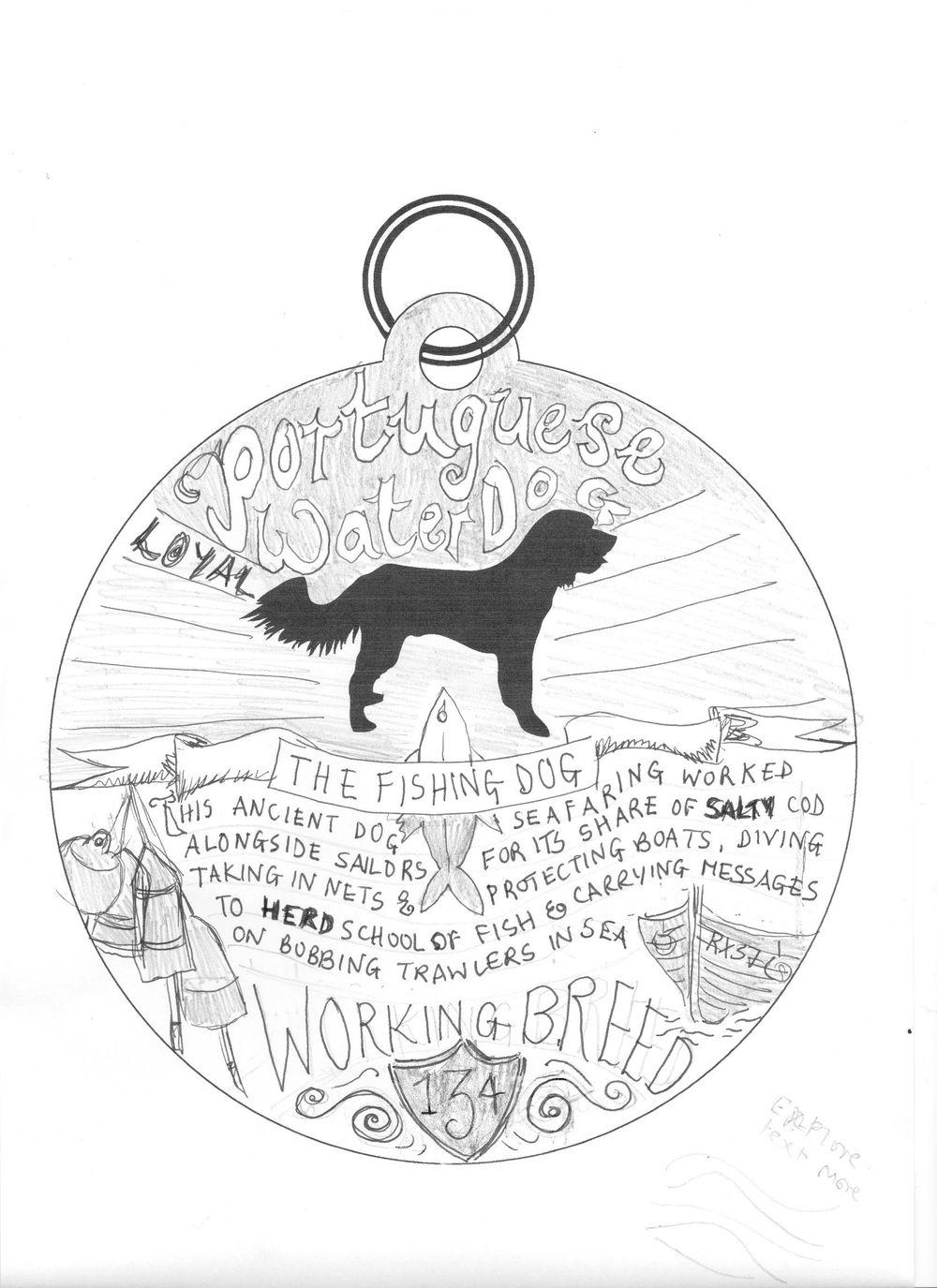 Dog Tag Art Print - image 12 - student project