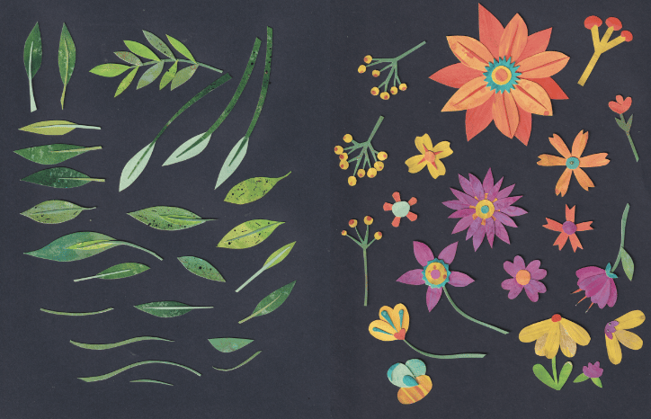 Paper Cut Flowers - image 1 - student project