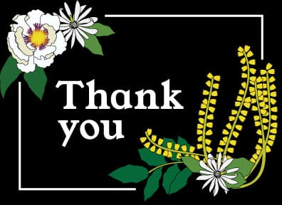 Thank you card - image 1 - student project