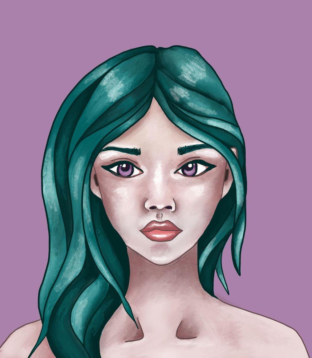 Liz Creates Portrait - image 2 - student project