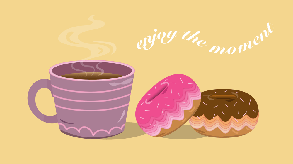 donuts with coffee - image 1 - student project