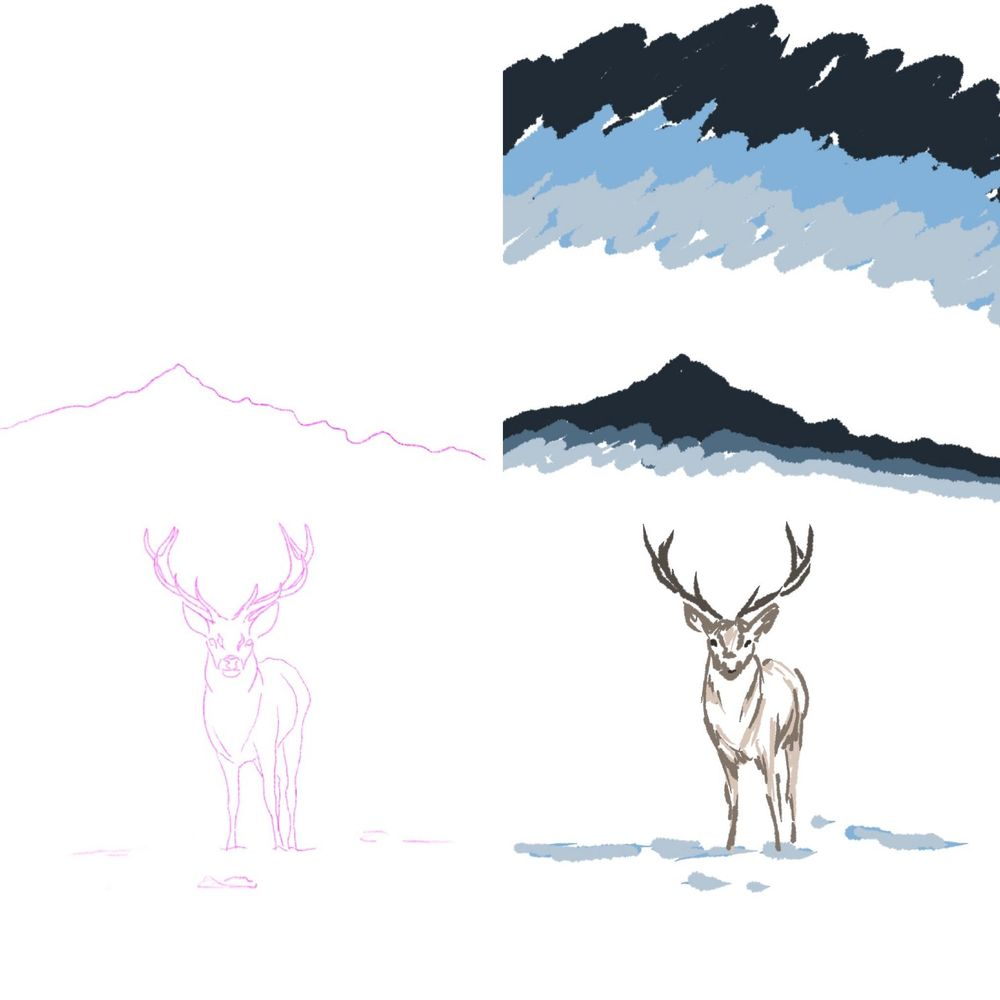 Mountain deer - image 2 - student project