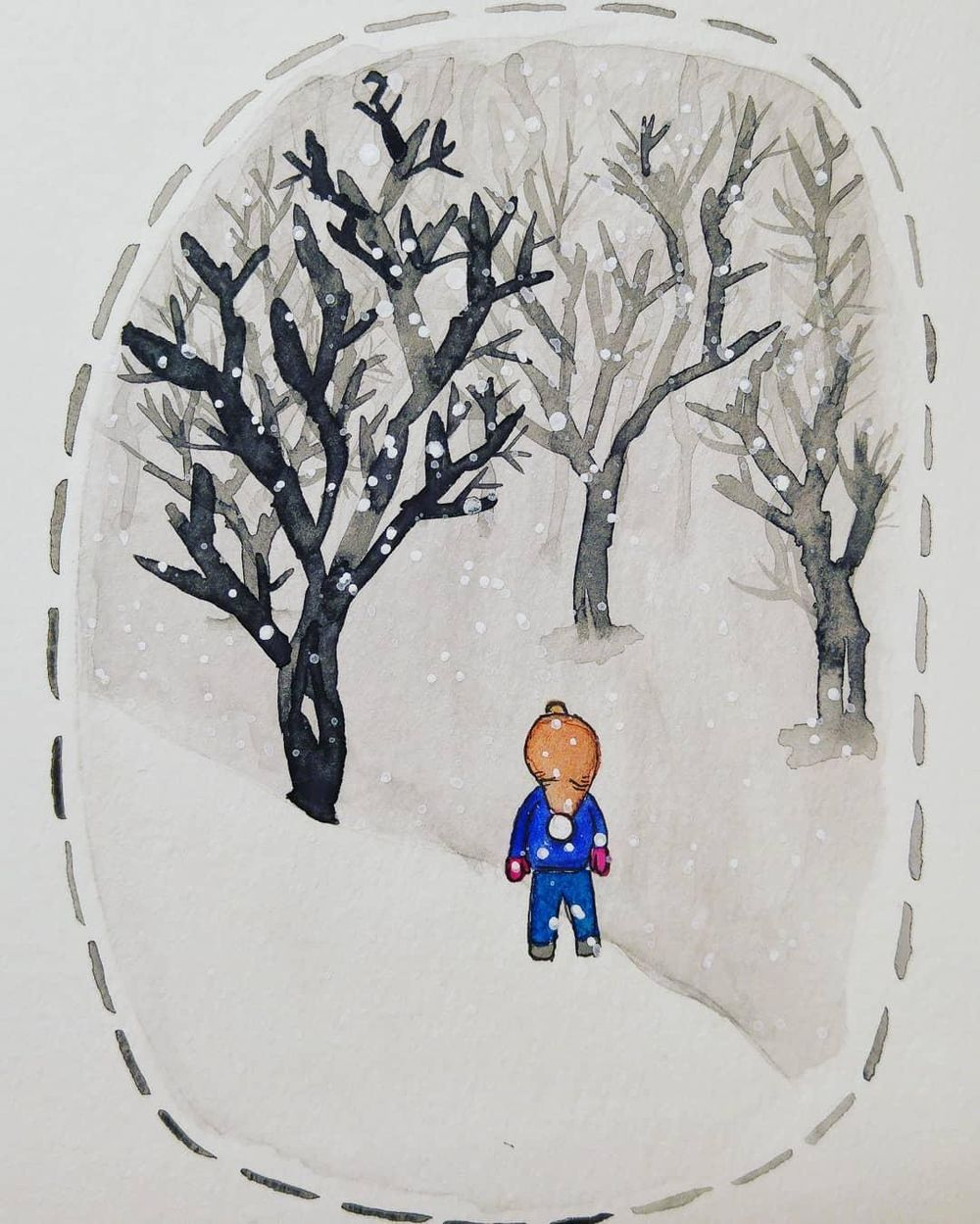 Watching the snow fall - image 1 - student project