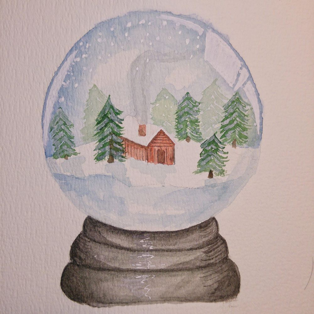 snowy cabin - image 1 - student project