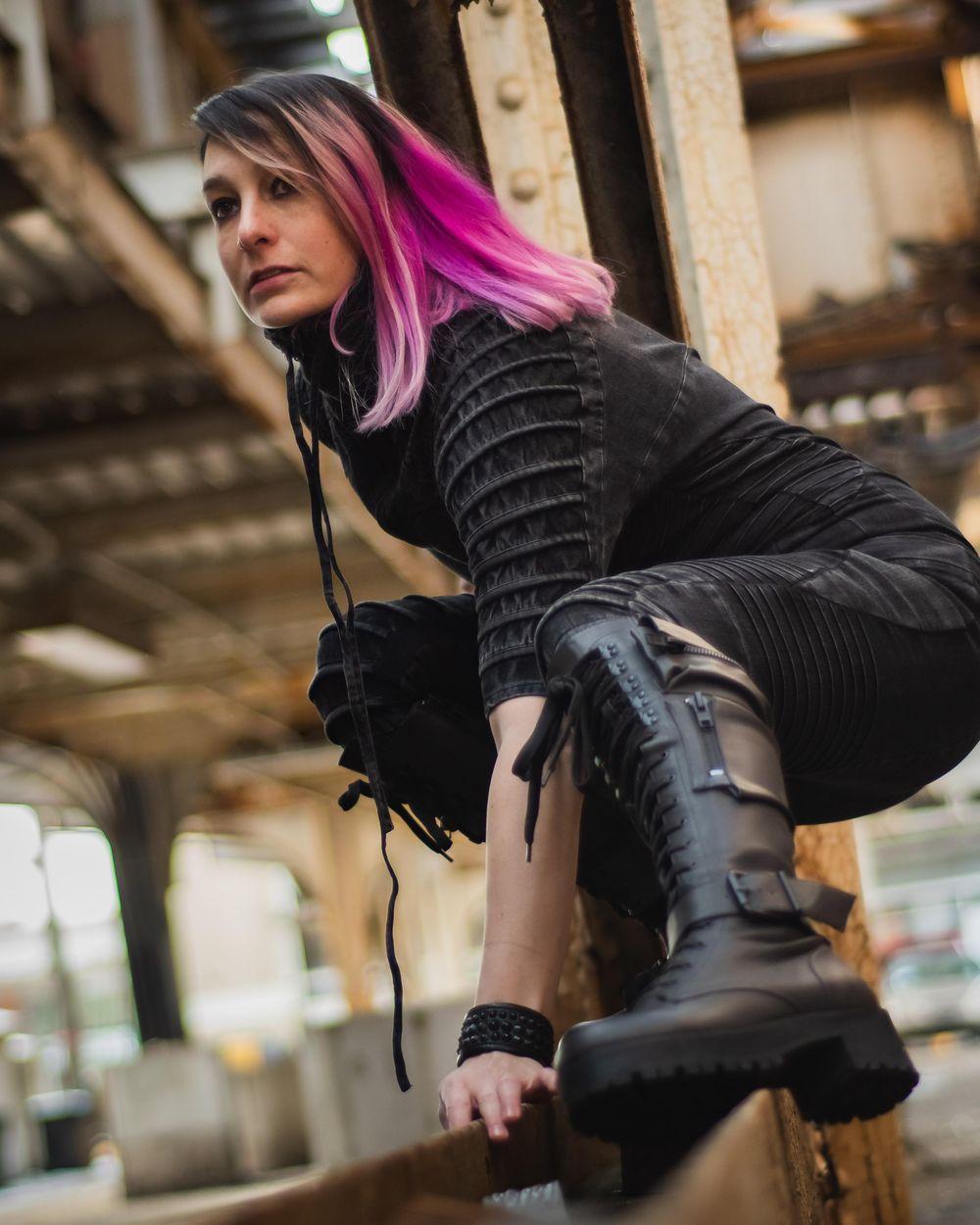 Cyberpunk Fashion Lookbook - image 6 - student project