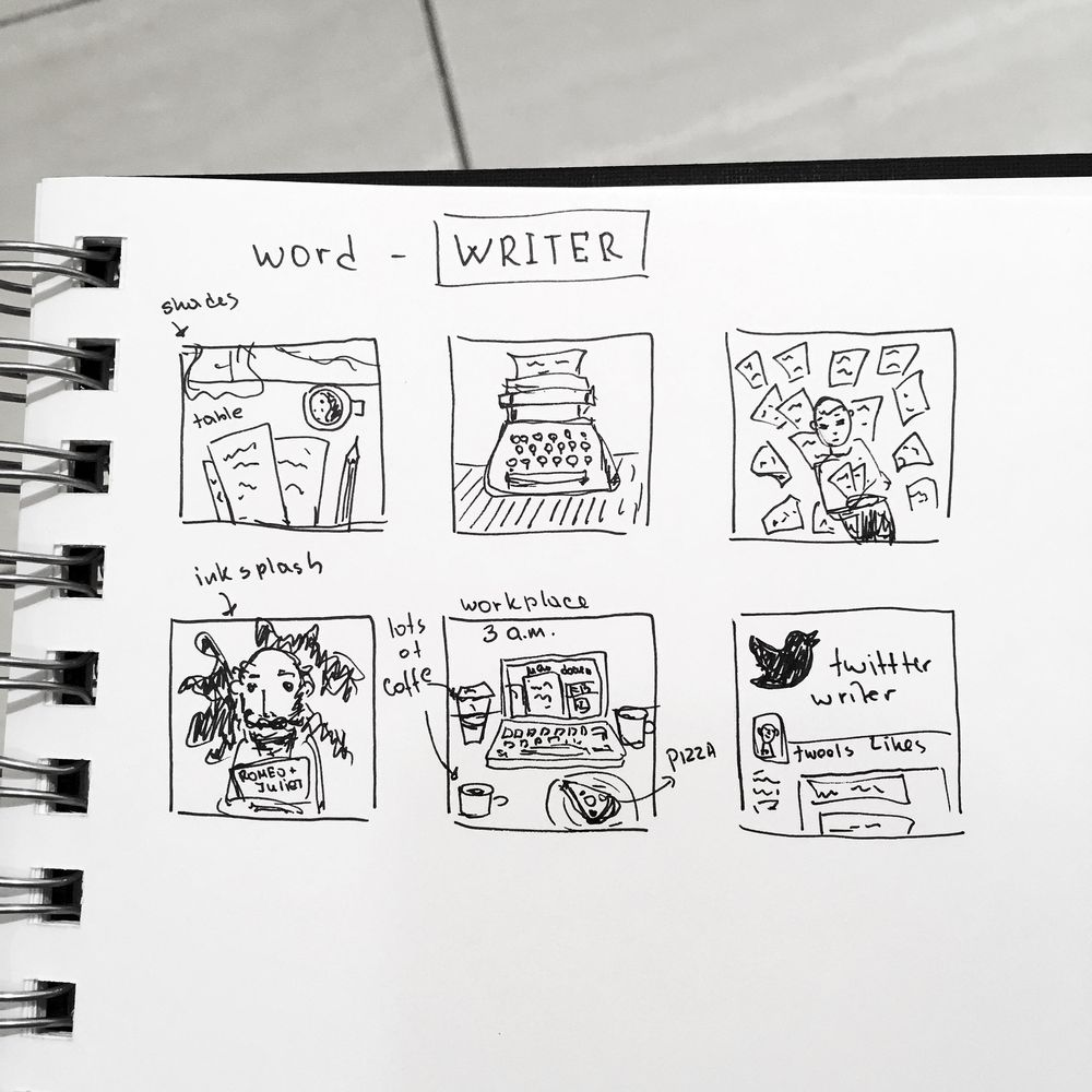 Love, love, love thumbnail sketching! - image 4 - student project