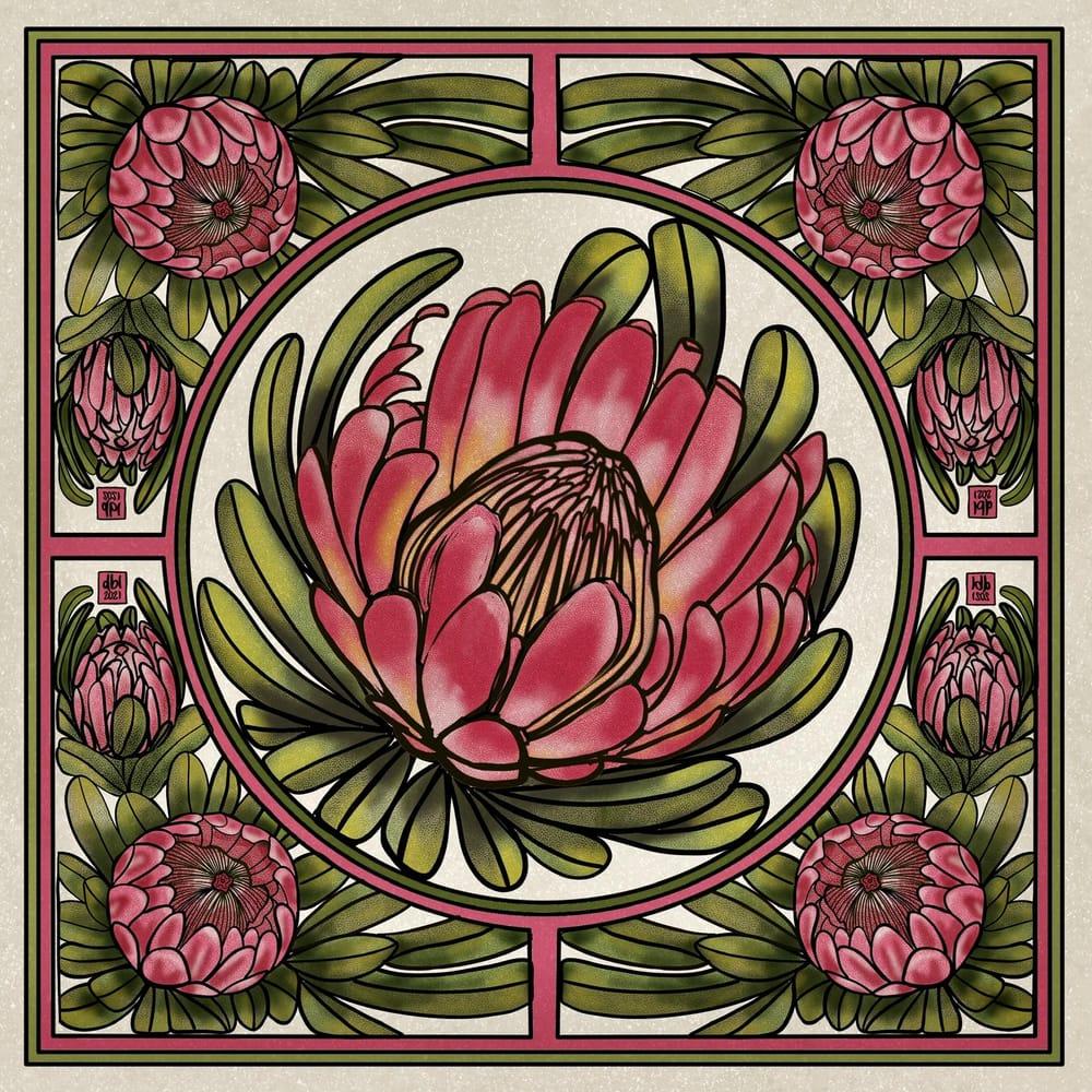 Protea Art Nouveau - image 1 - student project