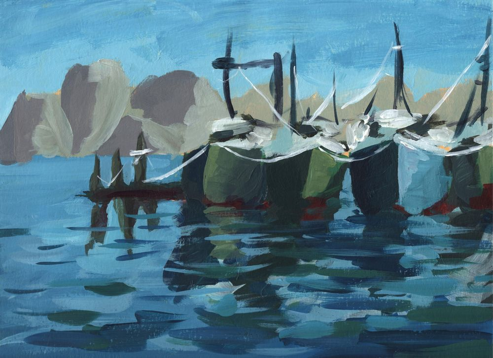Abstract Acrylic Boats - image 1 - student project