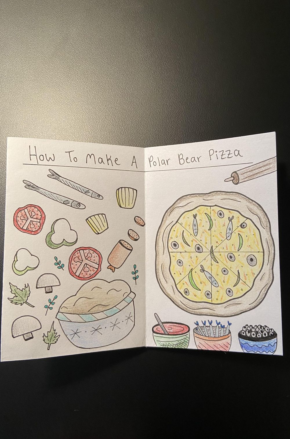 My First Zine: Polar Bears Like Pizza - image 3 - student project