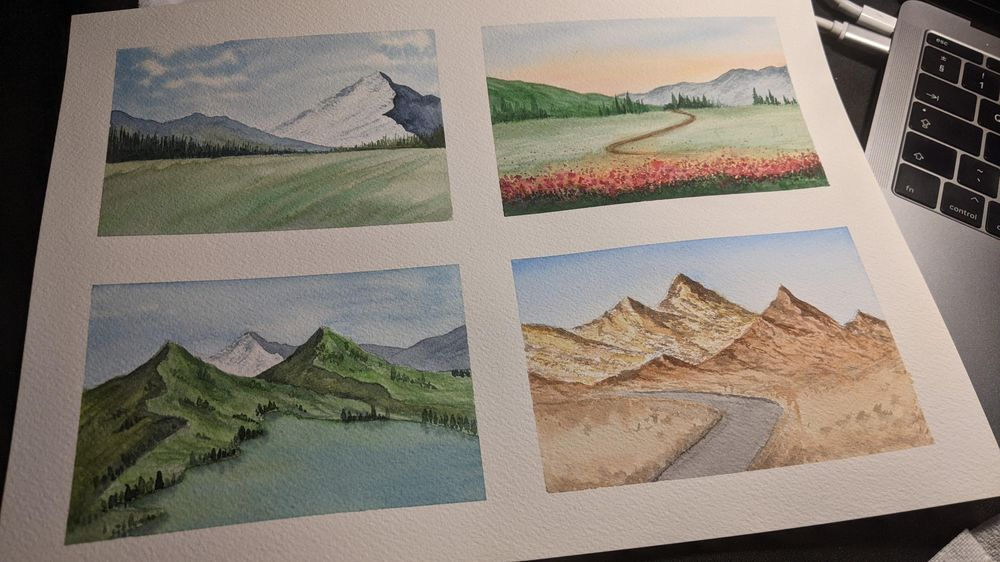 Simple landscapes - image 1 - student project
