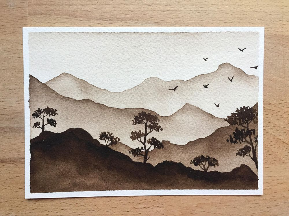 Monochrome watercolor - image 1 - student project