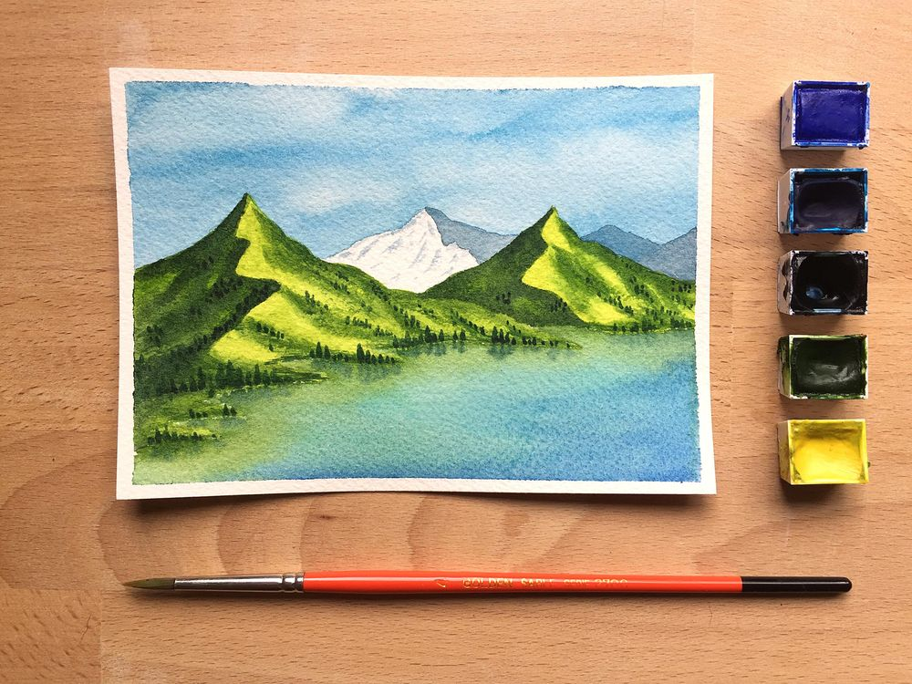 Watercolor Landscapes - image 3 - student project