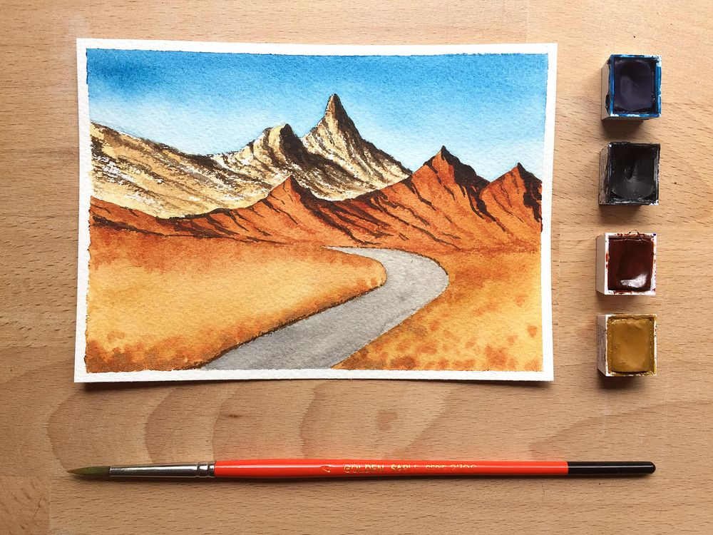 Watercolor Landscapes - image 4 - student project