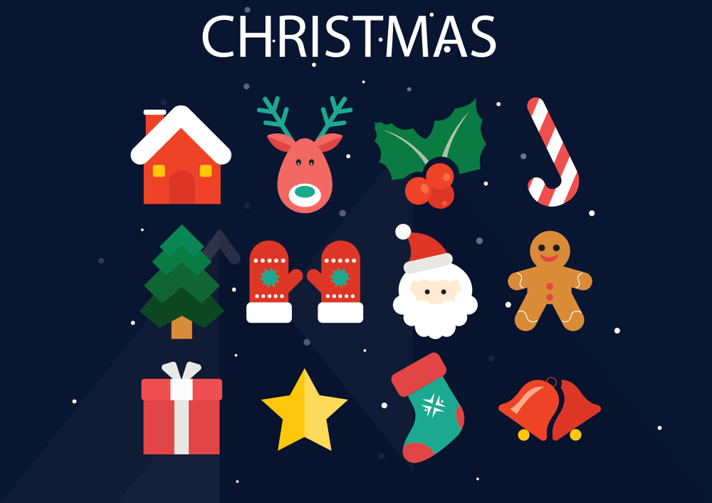 Space ,  Diving and Christmas  Icons  - image 2 - student project