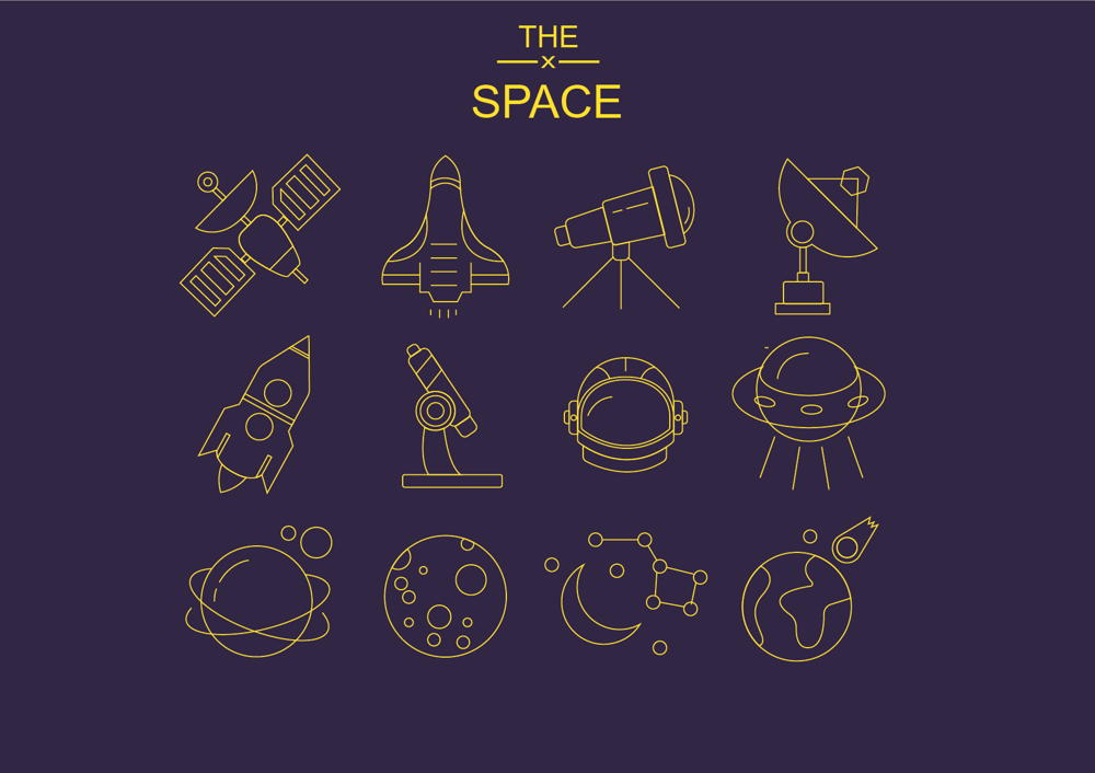 Space ,  Diving and Christmas  Icons  - image 3 - student project
