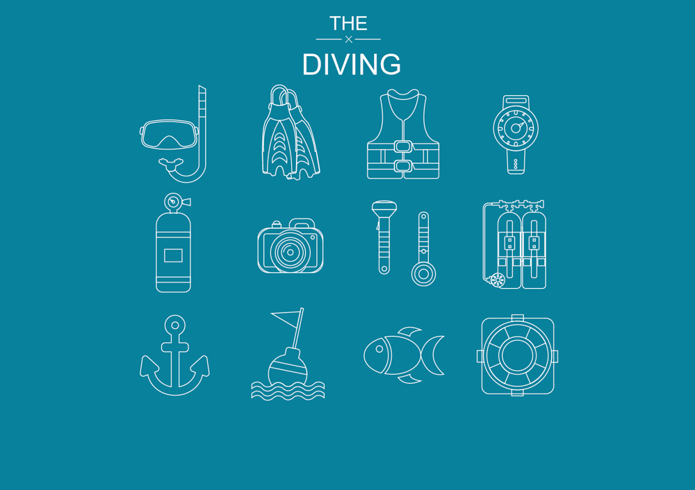 Space ,  Diving and Christmas  Icons  - image 5 - student project