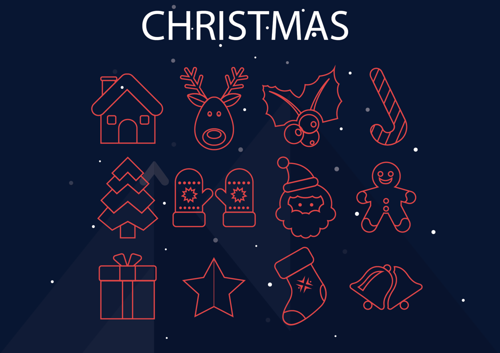 Space ,  Diving and Christmas  Icons  - image 1 - student project