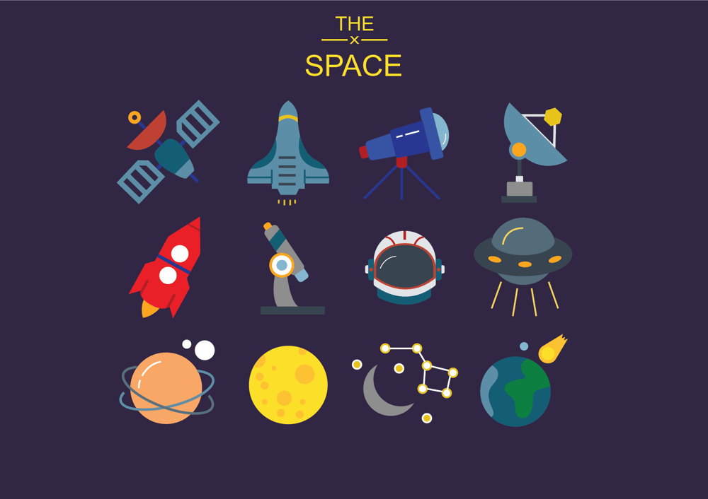 Space ,  Diving and Christmas  Icons  - image 4 - student project