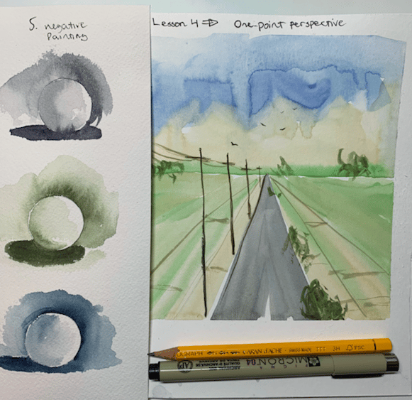 Introduction to Watercolor Seascapes : Learn Negative Painting & Perspective - image 1 - student project