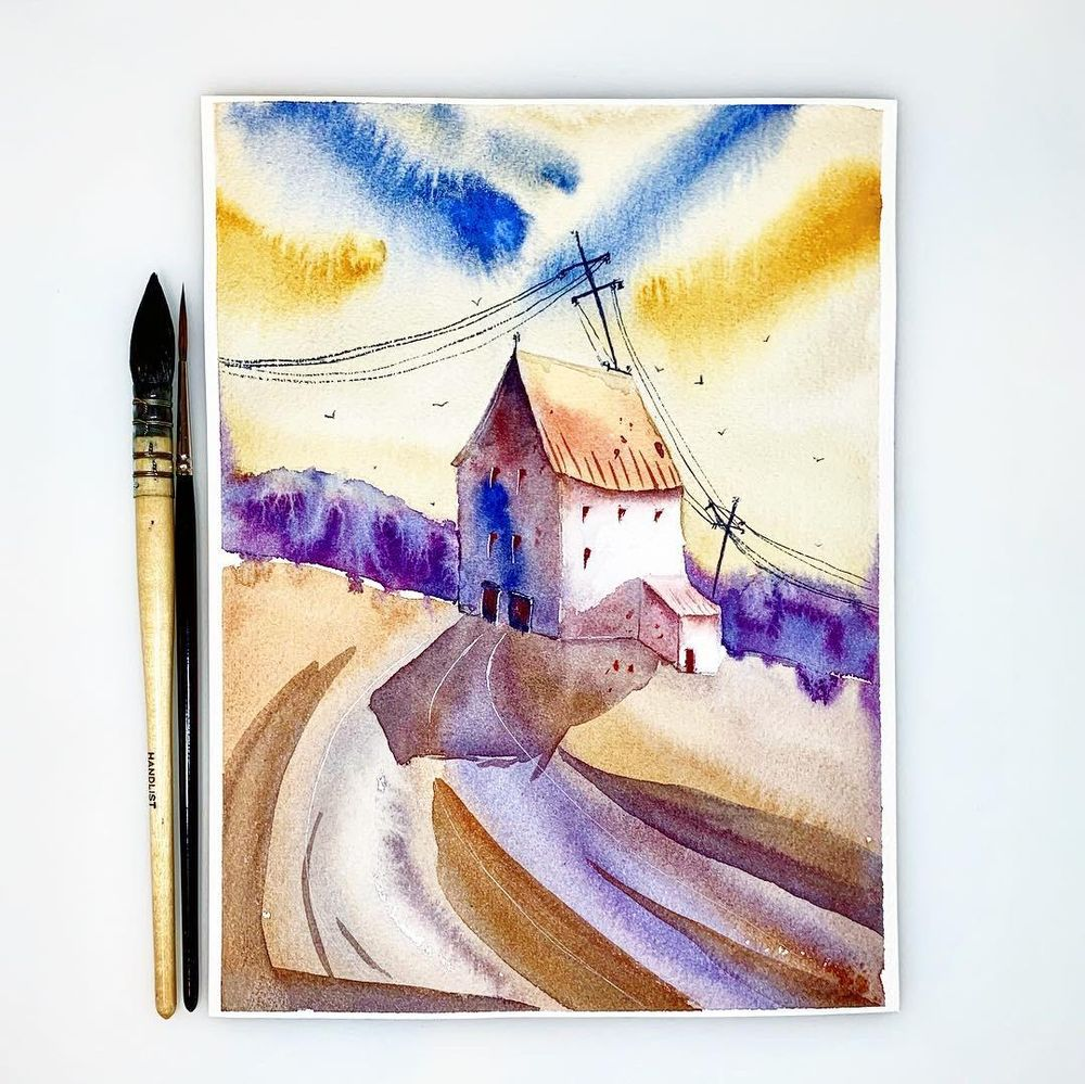 Master Watercolor Techniques : Learn how to paint lights and shadows - image 1 - student project
