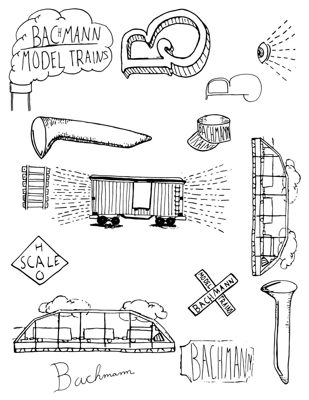 Bachmann Model Trains: Label Design  - image 2 - student project