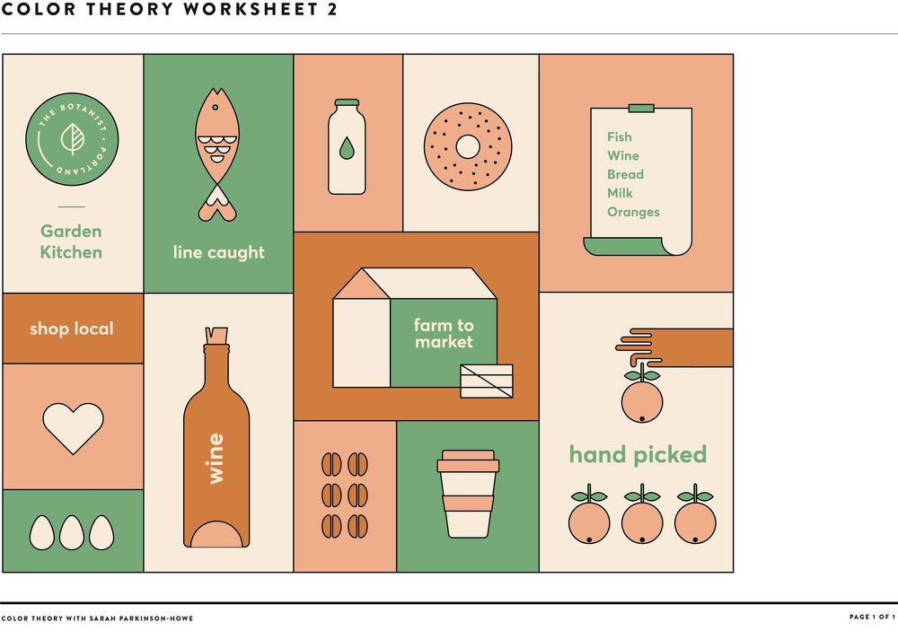 COLOR THEORY WORKSHEET 2 - image 1 - student project