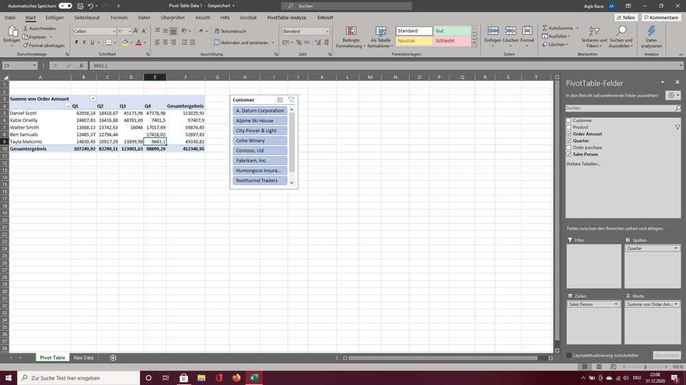 Excel Projects/ Exercises - image 2 - student project