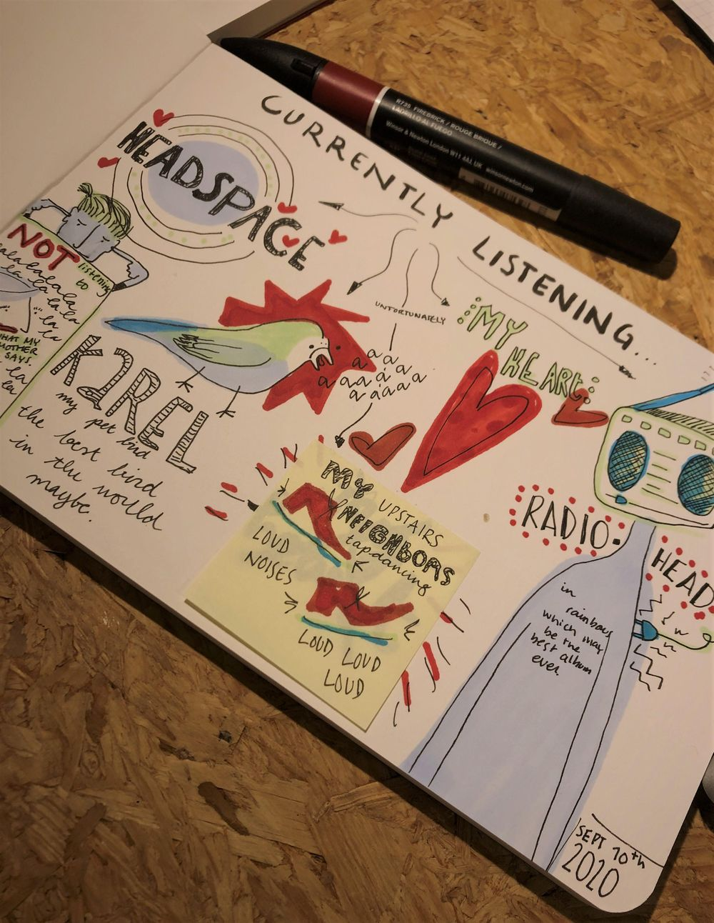 14 days of illustrative journalling - image 1 - student project