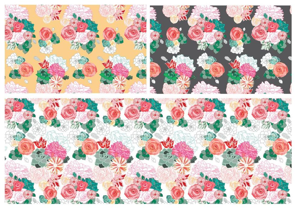 Floral Repeat - image 2 - student project