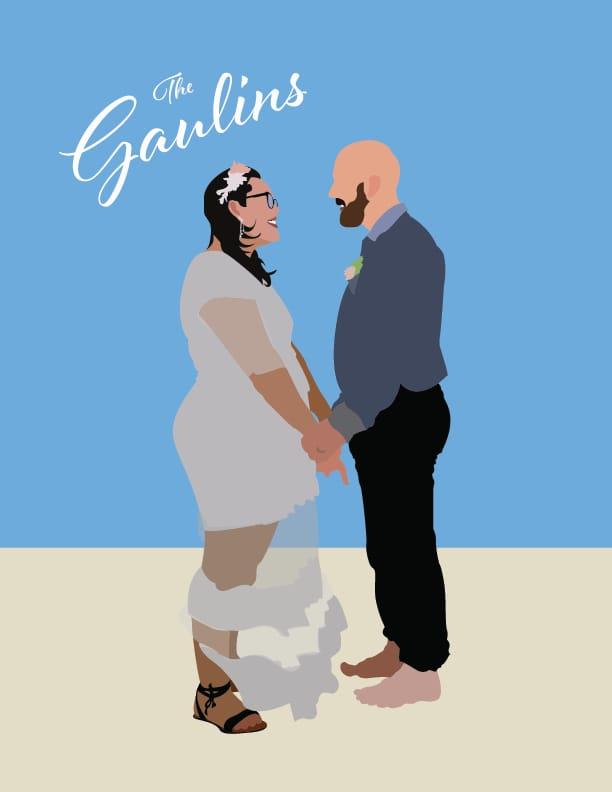 Illustrated Wedding Photo - image 1 - student project