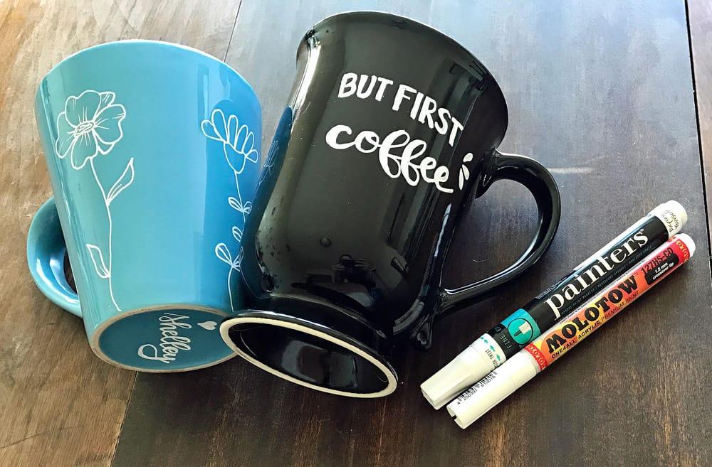 Hand painted custom mugs! - image 1 - student project