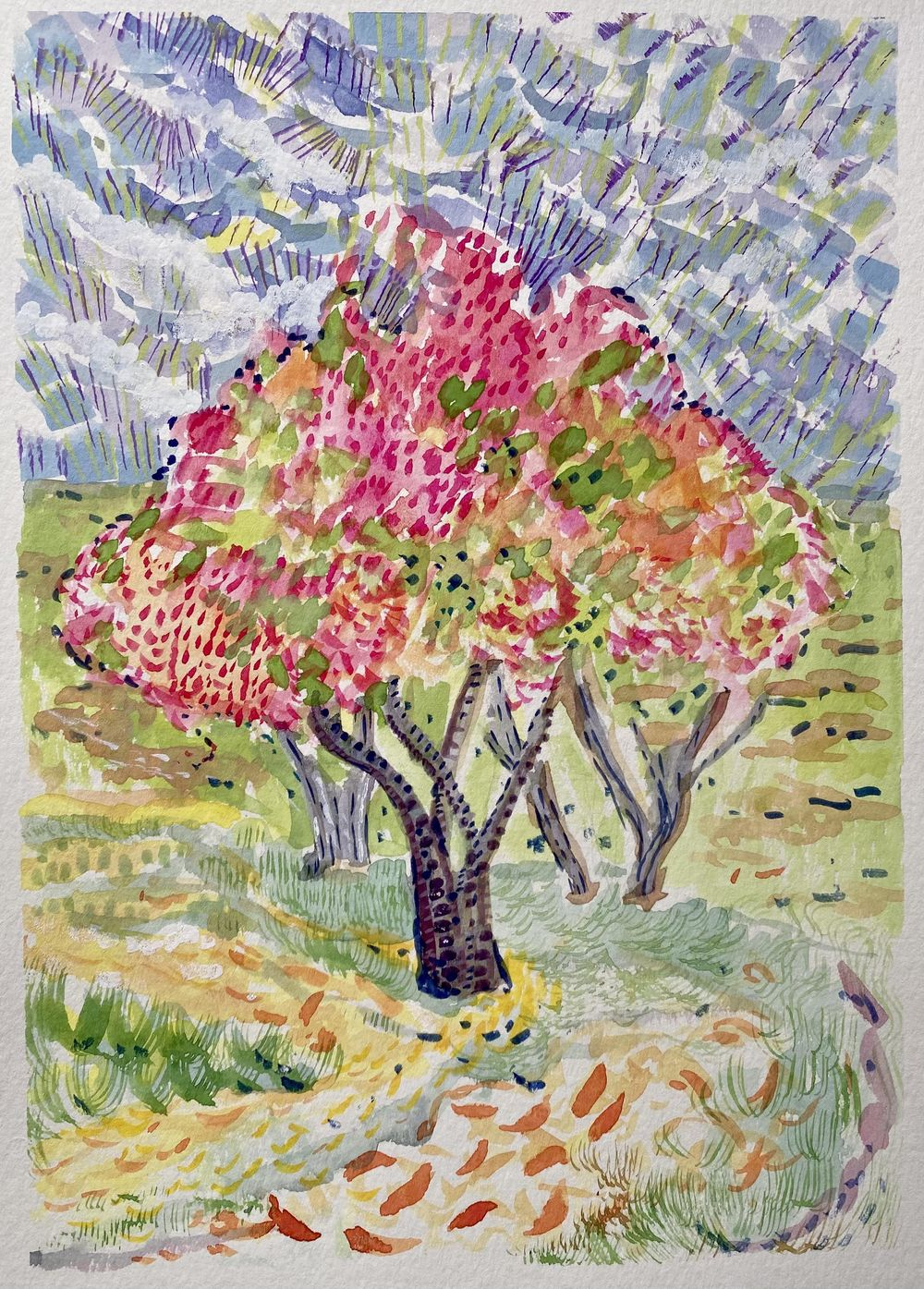 Pink Fall Tree - image 1 - student project