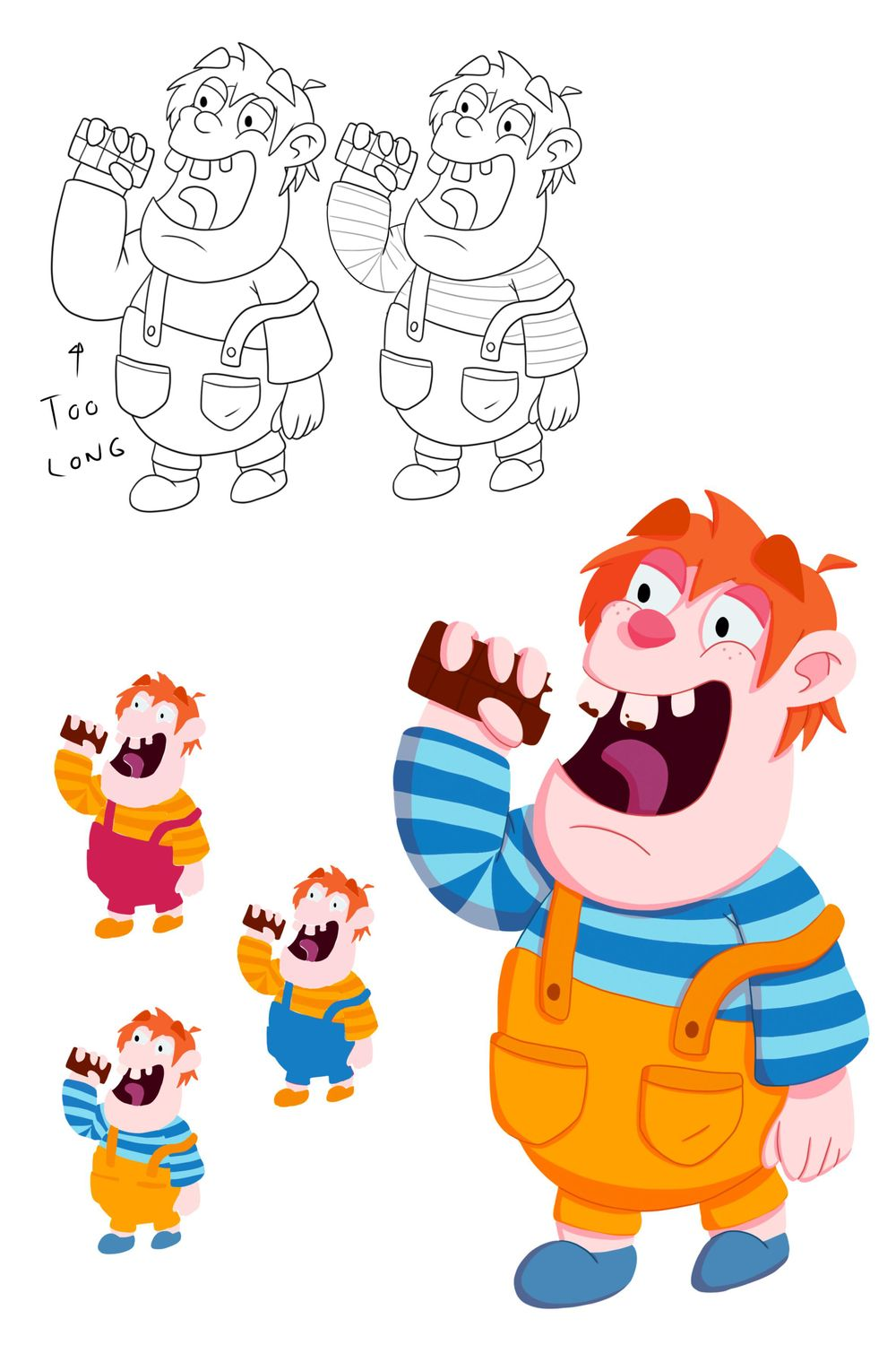 5 Boys - Character Design - image 3 - student project