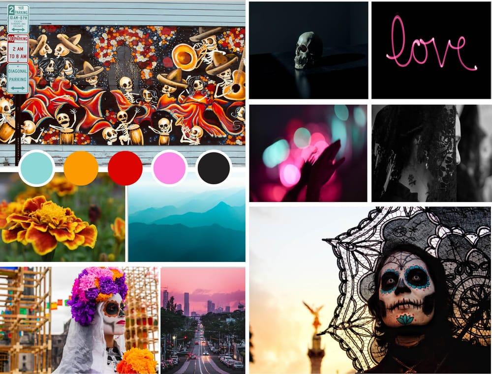 Día de Muertos Inspired Mood Board - image 1 - student project
