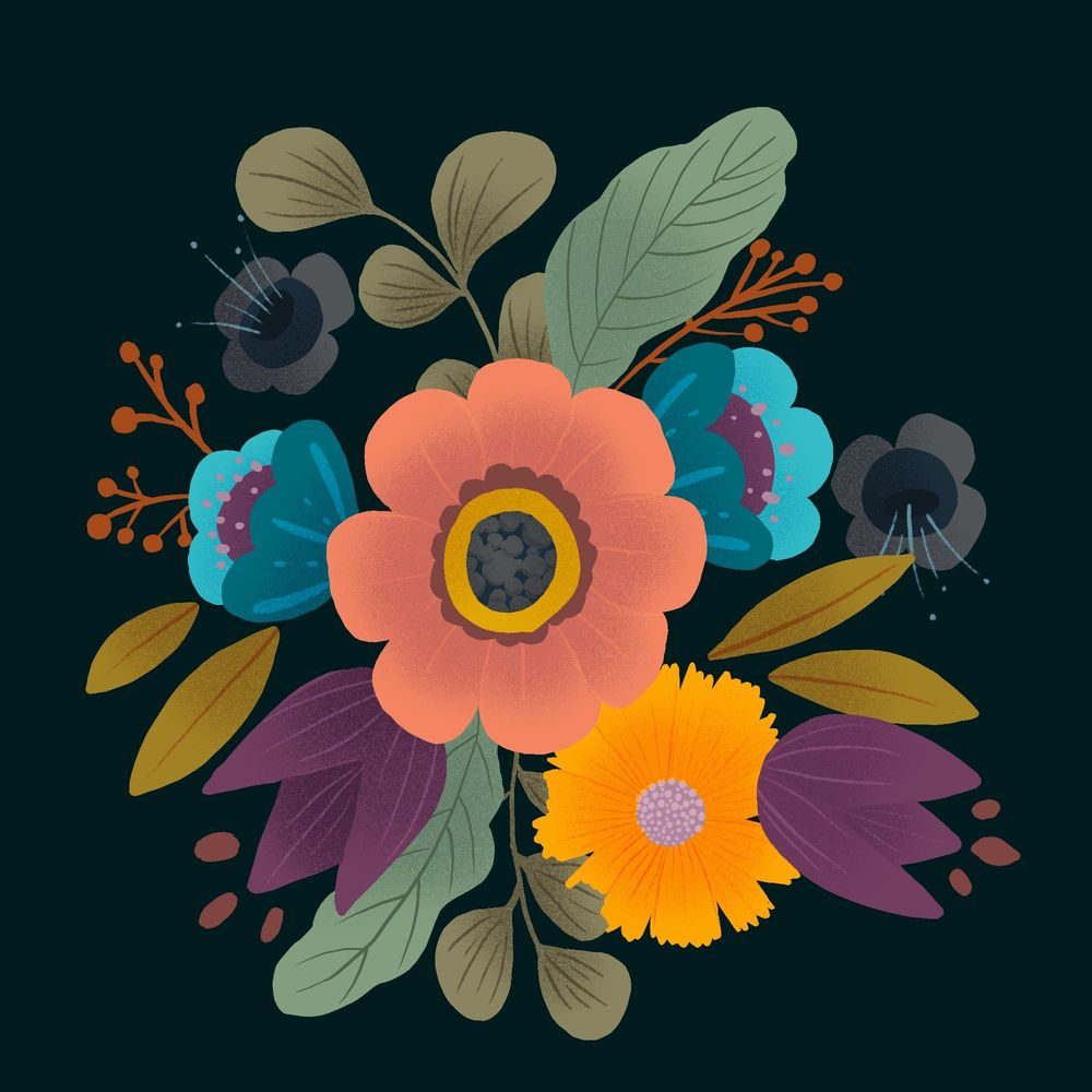 Fun with florals - image 2 - student project