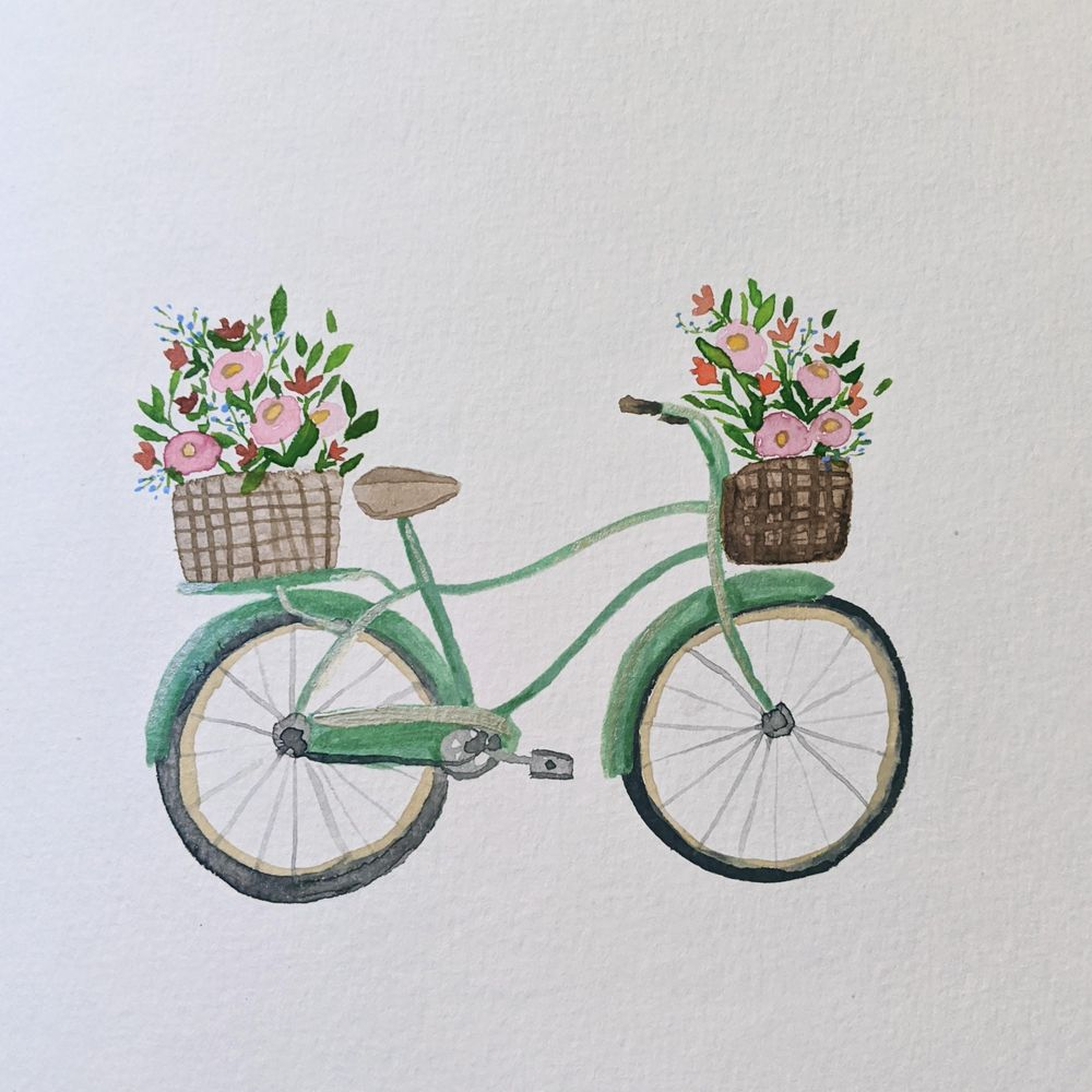 Watercolor bike - image 1 - student project