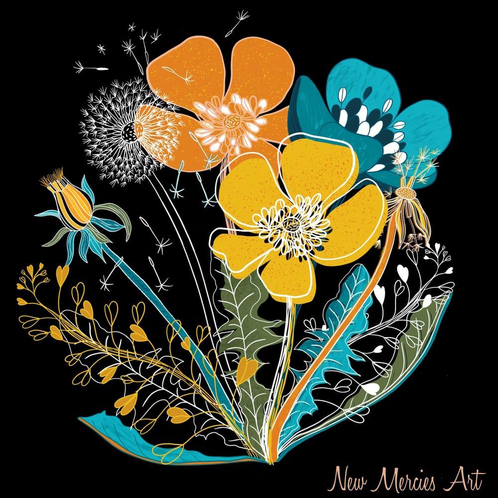 Rachel's wildflowers - image 2 - student project