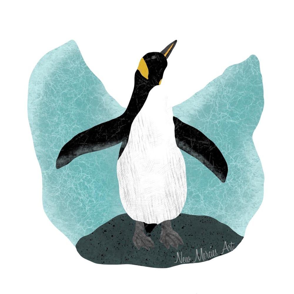 Penguin Flat-ish illustration - image 1 - student project
