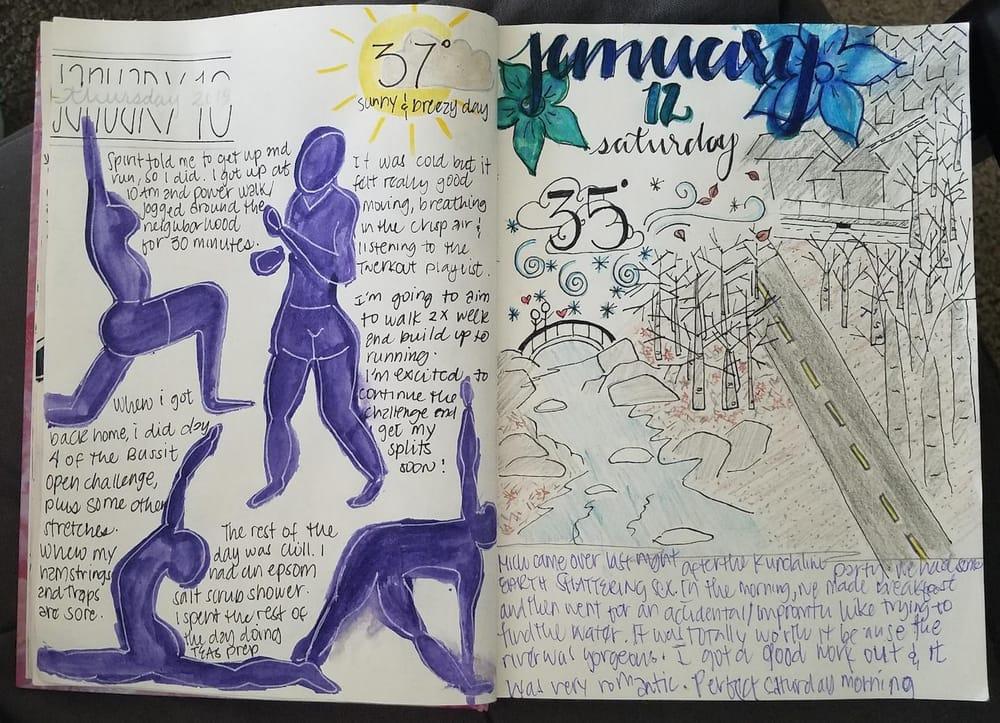 Sketchbook Journaling - image 2 - student project
